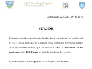TERCERA REUNIÓN REGULAR DE CONSEJO ESCOLAR 2018